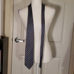 Brooks Brothers blue and yellow silk tie